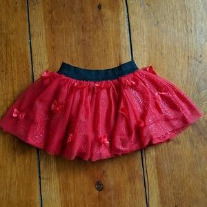 Disney Sparkly Butterfly Tutu Skirt Skort
